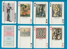Collectable playing cards Artdeck 1984 featuring Morden Art